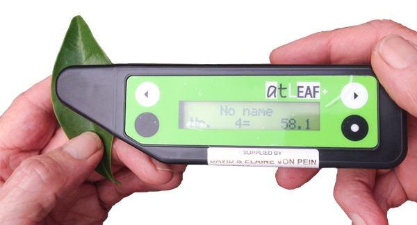 The 'atLEAF CHL' meter for measurement of plant chlorophyll content