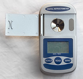 Palm Digiatal Refractometer also known as a Brix Meter